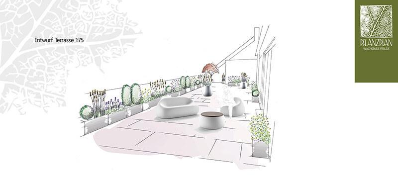 Terrassengestaltung Wien & Niederösterreich | Pflanzplan Terrasse Gestaltung Dach Planen